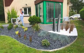 creataion jardin rouen dalle travaux chantier