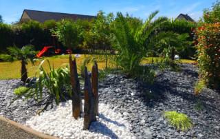 creation jardin rouen massif chantier
